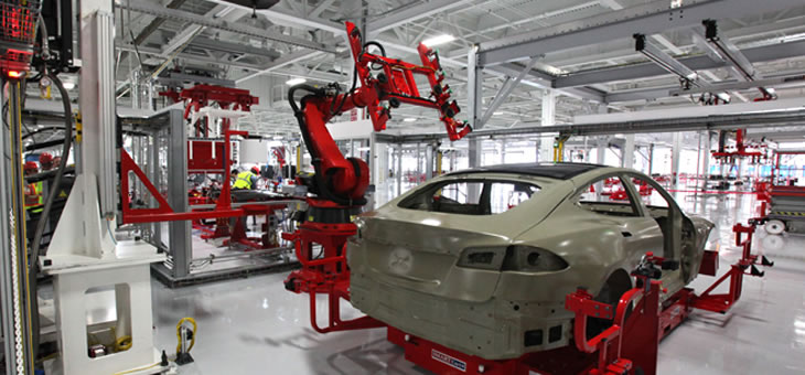 Musk Approves Bluetooth Lighting for Tesla Factory